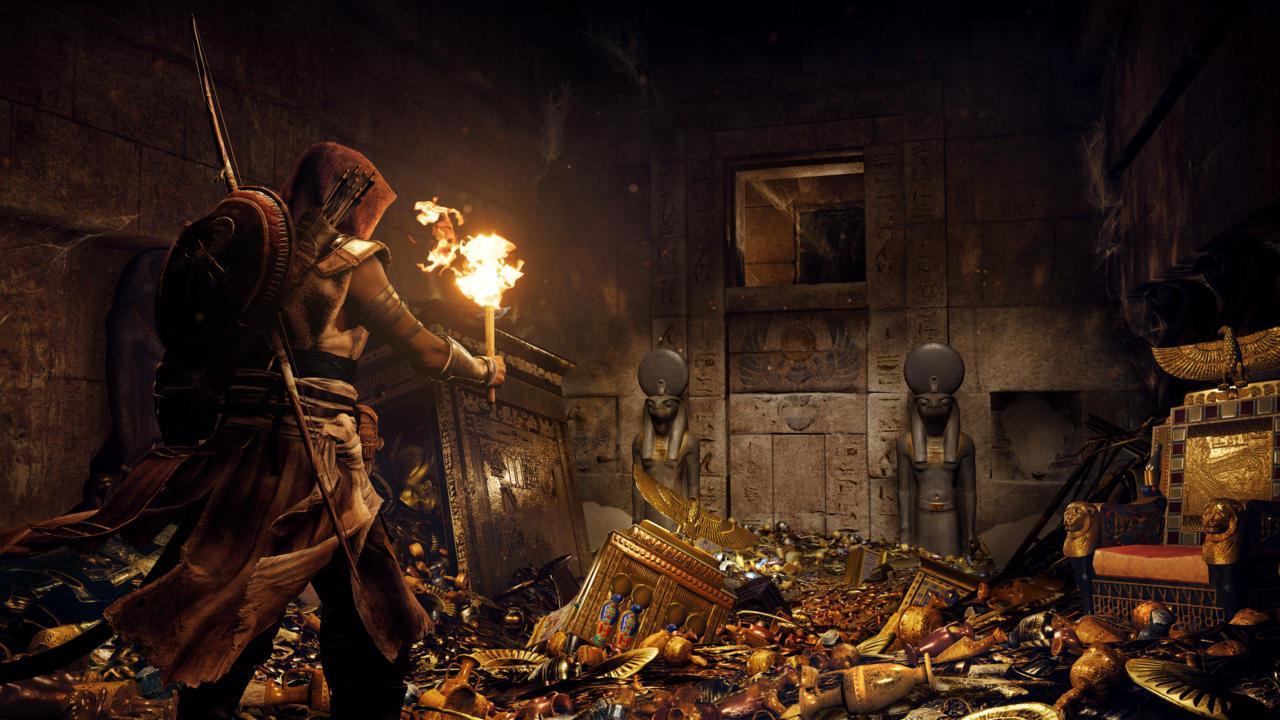 Погоня от бегемотов в Assassin's Creed: Origins