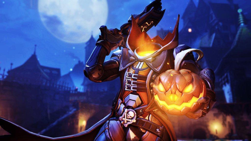 В сети появились скины персонажей из обновления для Overwatch к Хэллоуину