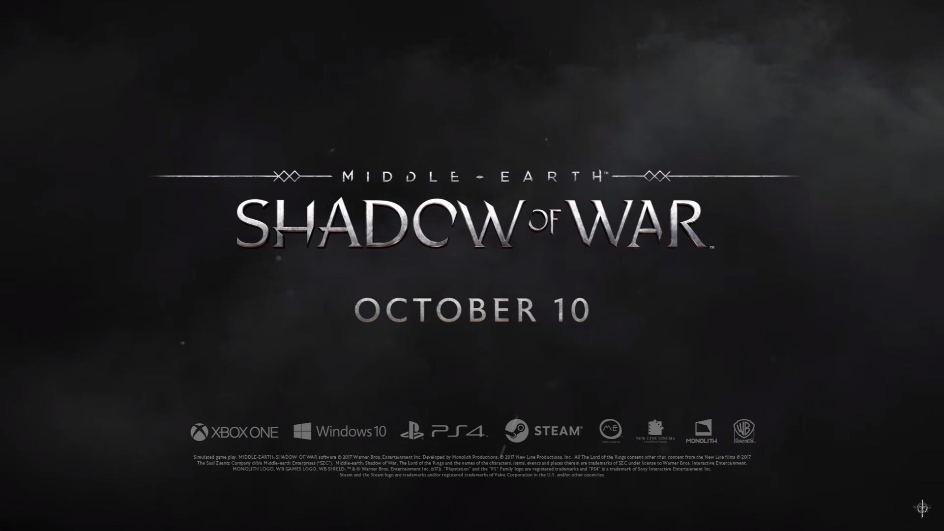 Middle-earth: Shadow of War - зрелищный тизерный ролик об игре