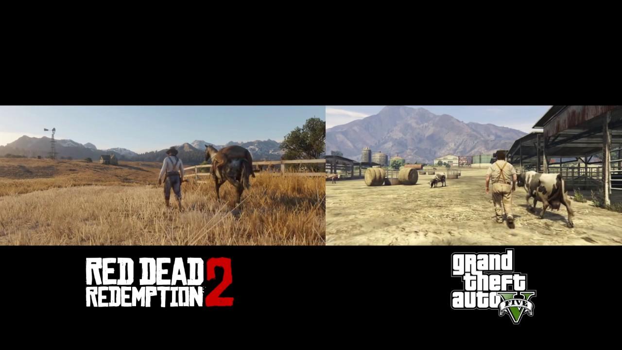 Где лучше графика: вRed Dead Redemption 2 или вGTA VнаPC?