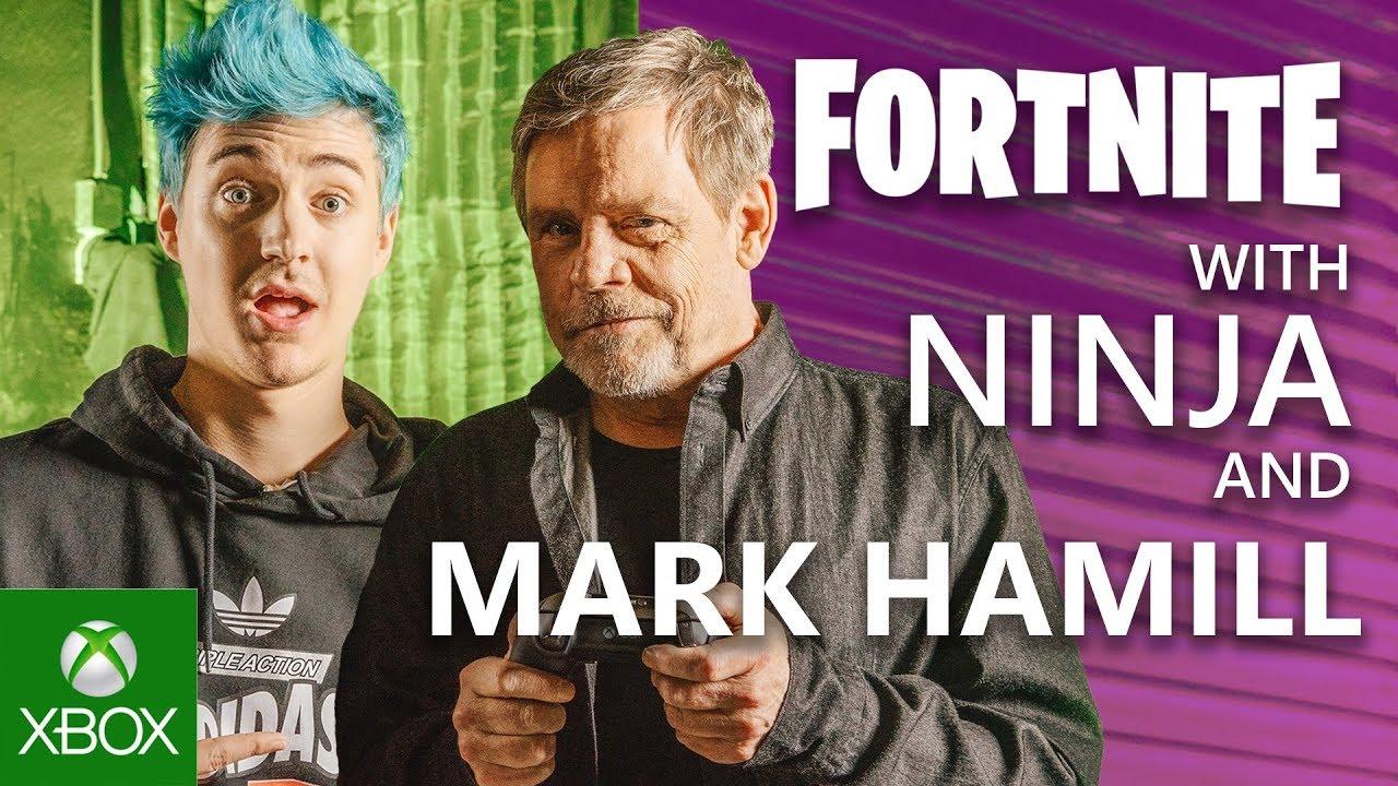 Марк Хэмилл ипопулярный стример Ninja провели трансляцию ипоиграли вFortnite