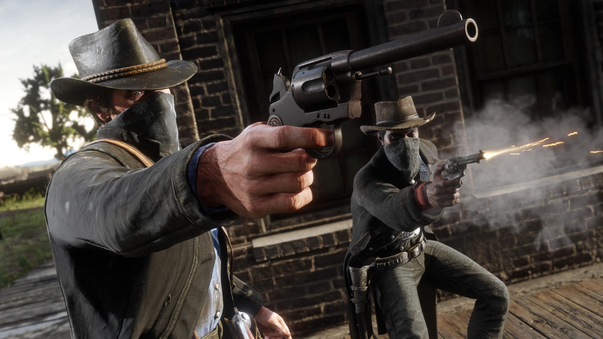 Red Dead Redemption 2 наPСможно заказать вEGS илаунчере Rockstar