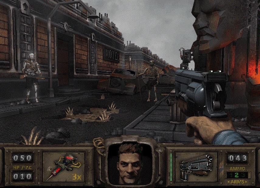 Российский художник показал как выгляделабы Fallout 1997 года свидом отпервого лица